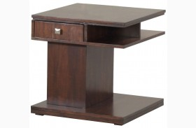 Le Mans Mozambique Rectangular End Table