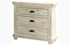 Willow Distressed White Nightstand