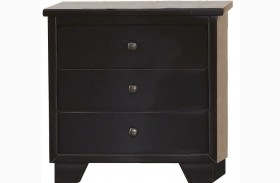 Diego Black Nightstand