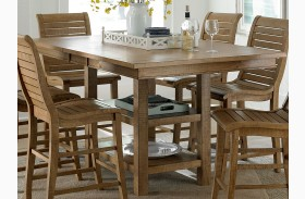 Willow Distressed Pine Rectangular Extendable Counter Dining Table
