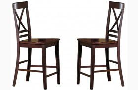 Winston Espresso Counter Dining Chair Set of 2