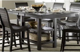 Willow Distressed Black Rectangular Counter Height Dining Table