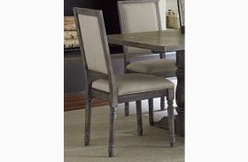 Muses Dove Grey Upholstered Back Chair Set of 2