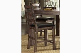 Boulder Creek Pecan Veneer Counter Chair Set of 2