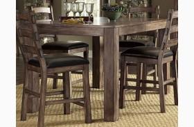 Boulder Creek Pecan Veneer Counter Height Dining Table