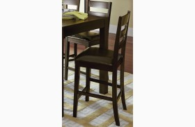 Amini Espresso Ladder Counter Chair Set of 2