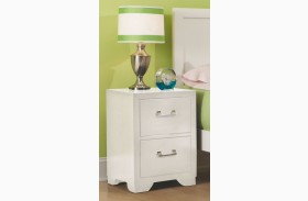 Smart Solutions White Night Stand