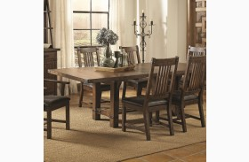 Padima Rustic Rough-Sawn Rectangular Extension Dining Table