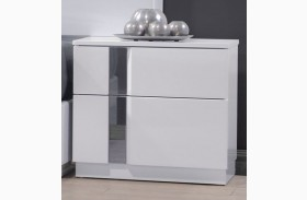 Palermo White Lacquer Nightstand