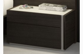 Porto Natural Light Grey Lacquer RAF Nightstand
