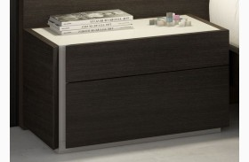 Porto Natural Light Grey Lacquer LAF Nightstand