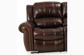 Poseidon Cocoa LAF Power Reclining Chair