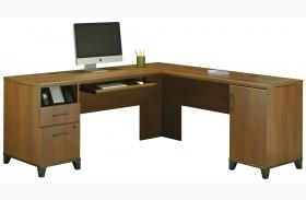 Achieve Warm Oak L Desk