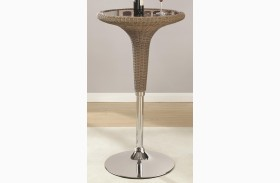 Adjustable Rattan Bar Table