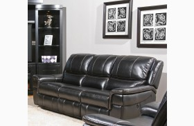 Python Black Dual Power Reclining Sofa
