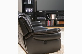 Python Black Dual Power Reclining Loveseat