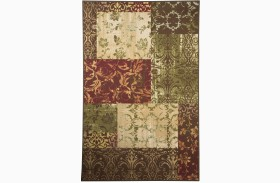 Milner Brown and Burgundy Medium Rug