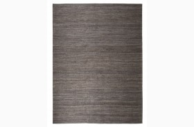 Handwoven Dark Gray Medium Rug