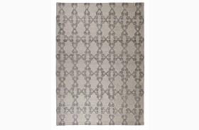 Patterned Gray/Ivory Medium Rug