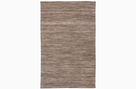 Flatweave Brown Medium Rug