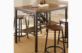 Rebecca Durable Handpainted Metal Counter Dining Room Set From Steve Silver