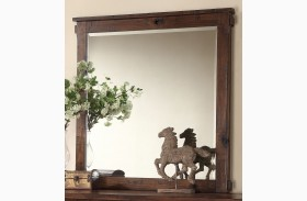 Restoration Rustic Walnut Mirror