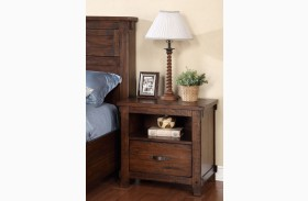 Restoration Rustic Walnut Nightstand