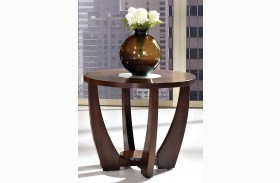 Rafael Merlot Cherry End Table