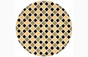 Windel Black & Sage Round Area Rug
