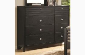 Richmond Black 8 Drawer Dresser