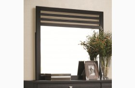 Richmond Black Slat Landscape Mirror
