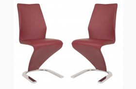 Regis Rio Dark Red Dining Chair Set of 2
