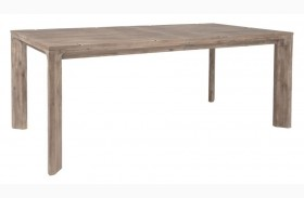Rivet Gray Wash Rectangular Extendable Leg Dining Table