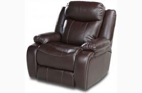 Genesis Jamestown Brown Fabric Power Reclining Chair