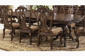 Rochelle Chestnut Extendable Rectangular Leg Dining Table