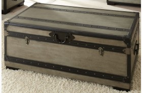 Rowan Weathered Gray Trunk with Casters