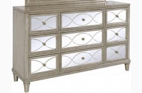 Cut Glass Silver Drawer Dresser