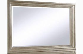 Cut Glass Silver Landscape Mirror