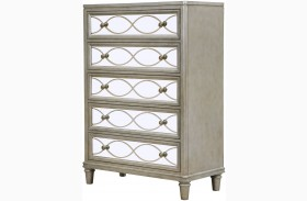 Cut Glass Silver Drawer Chest