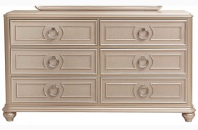 Dynasty Gold Metallic Drawer Dresser