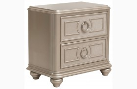 Dynasty Gold Metallic Nightstand