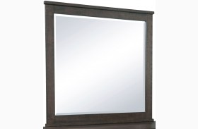Ruff Hewn Brown Landscape Mirror