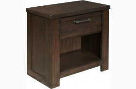 Ruff Hewn Brown Nightstand