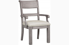 Prospect Hill Gray Arm Chair Set of 2