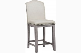 Prospect Hill Gray Upholstered Gathering Chair Set of 2