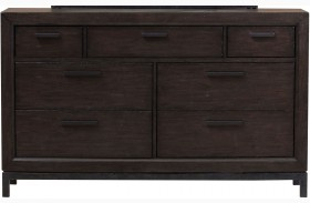 Fulton St. Brown Drawer Dresser