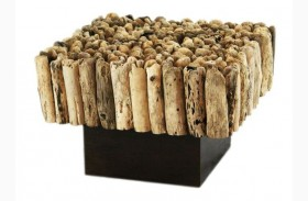 Safari Natural Driftwood End Table