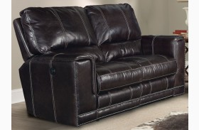 Salinger Sangria Dual Power Reclining Loveseat