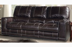 Salinger Sangria Dual Power Reclining Sofa
