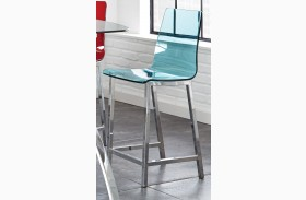 Sicily Green Acrylic Counter Chair Set of 2